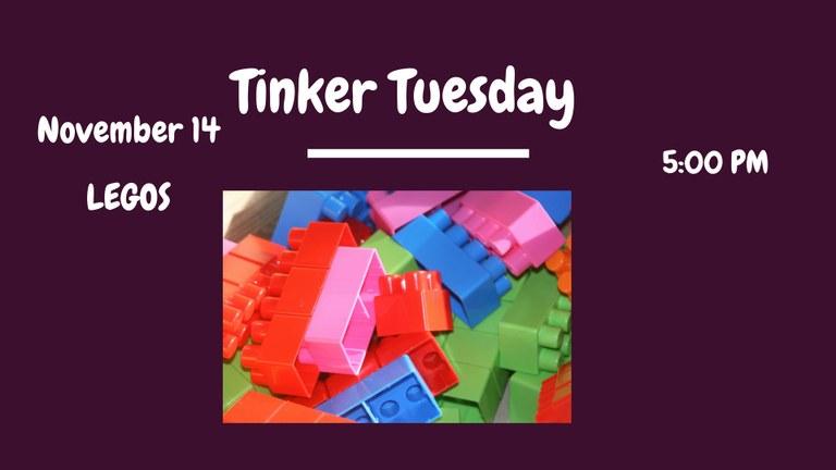 Tinker Tuesday--Legos